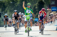 2014_Amgen Tour of California Stage07 Finish, 1stPeterSAGAN(SVK-CAN), 2ndThorHUSHOVD(NOR-BMC), 3rdDannyVANPOPPEL(NED-TFR)