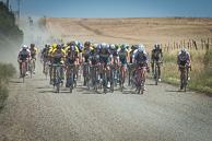 2015 Amgen Tour of California, Stage01, Peloton, led by GuillaumeVANKEIRSBULCK(BEL-EQS), MattBRAMMEIER(IRL-MTN), MaartenWYNANTS(BEL-TLJ),  Gravel Secteur, MCormack Road