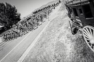 2015 Tour of Utah Stage 2 Peloton passes Eli's Wagon Land