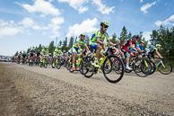 2015 USA Pro Challenge Stage 02 Peloton Gravel Road