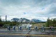 2015 Tour of Alberta Stage03 Peloton in Jasper