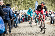 2016_Driedaagse De Panne-Koksijde_Stage2, LieuweWESTRA(NED-AST), Peloton, on the Kemmelberg