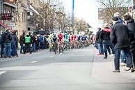 2016_Driedaagse De Panne-Koksijde_Stage2, SveinTUFT(CAN-OGE) leads Peloton on De Panne circuit