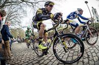 2016_Driedaagse De Panne-Koksijde_Stage2, JulienMORICE(FRA-DEN), BertVANLERBERGHE(BEL-TSV), Breakaway on the Kemmelberg