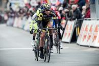 2016_Driedaagse De Panne-Koksijde_Stage3a, Breakaway, led by (FRA-DEN) on Finishing Circuit of De Panne