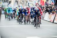 2016_Driedaagse De Panne-Koksijde_Stage3a, Peloton, led by IljoKEISSE(BEL-EQS) on Finishing Circuit of De Panne