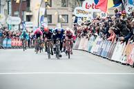 2016_Driedaagse De Panne-Koksijde_Stage3a, Finish, 1st MarcelKITTEL(GER-EQS), 2nd Phil BAUHAUS(GER-BOA), 3rd AlexanderKRISTOFF(NOR-KAT)