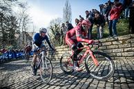 2016_Driedaagse De Panne-Koksijde_Stage1, first ascent of De Muur, defending Champion, AlexanderKKRISTOFF(NOR-KAT) in front group.