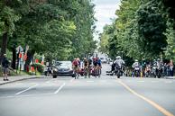 2016 Grands Prix Cyclistes de Québec et de Montréal, Montreal Race, Breakaway, led by SeanDEBIE(BEL-LTS), along Boulevard Edouard-Montpetit