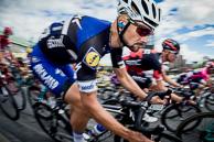 2016 Grands Prix Cyclistes de Québec et de Montréal, Montreal Race, TomBOONEN(BEL-EQS), races through hairpin turn on Avenue du parc