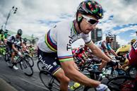 2016 Grands Prix Cyclistes de Québec et de Montréal, Montreal Race Race, Winner, GregVANAVERMAET(BEL-BMC), races through hairpin turn.