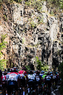 2016 Grands Prix Cyclistes de Québec et de Montréal, Montreal Race, Peloton on KOM climb on Mont Royal, the Park was officially opened on Queen Victoria's birthday, Wednesday, May 24, 1876