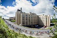 2016 Grands Prix Cyclistes de Québec et de Montréal, Montreal Race, Peloton on Polytechnique Ramp Road