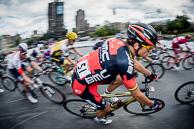 2016 Grands Prix Cyclistes de Québec et de Montréal, Montreal Race, Winner, GregVANAVERMAET(BEL-BMC), races through hairpin turn.