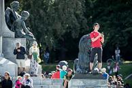 2016 Grands Prix Cyclistes de Québec et de Montréal, Montreal Race, Fans, Sir George Etienne Cartier Monument